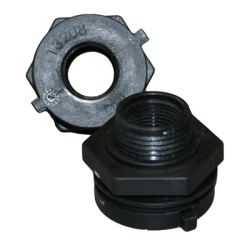 "2"" Heavy Duty Polypropylene Bulkhead Fitting w/Santoprene® Gasket(for Tanks 3000 Gallon & Larger)"