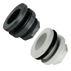 PVC & Polypropylene Heavy Duty Bulkhead Fittings with EPDM Gaskets