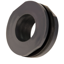 "1-1/4"" Loose PVC Tank Fitting with Santoprene® Gaskets - 2"" Hole Size"