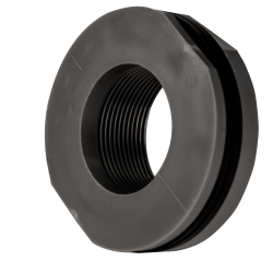 "1-1/2"" Loose PVC Tank Fitting with Santoprene® Gaskets - 2-1/4"" Hole Size"