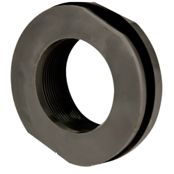 "2"" Loose PVC Tank Fitting with Santoprene® Gaskets - 2-7/8"" Hole Size"