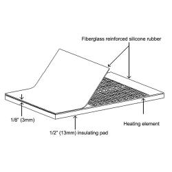 BriskHeat® TTH Caged Tote Tank/IBC Silicone Rubber Heater & Controller