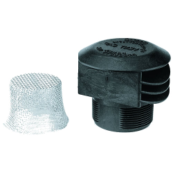 "2"" MNPT Anti Vortex Vent Cap with 12 SS Mesh Screen"