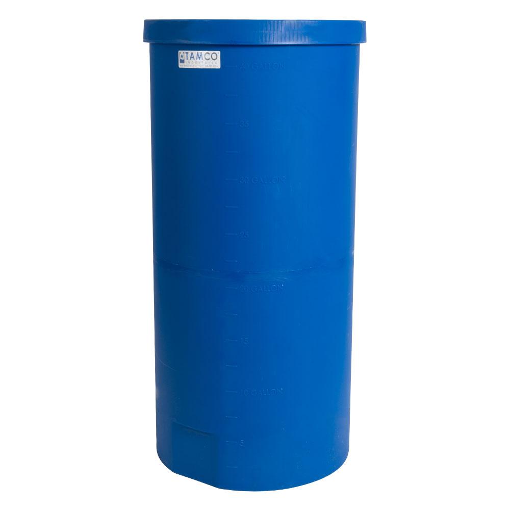 """40 Gallon Blue Heavy Wall Open Top Tamco® Tank - 18-3/8"""" Dia. X 40"""" High"""