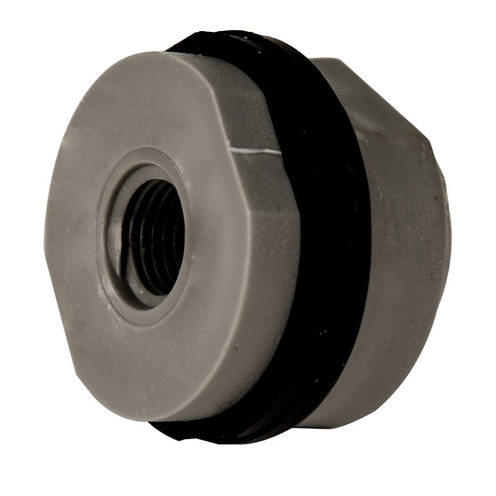 "1/4"" Loose PVC Tank Fitting with Santoprene® Gaskets - 1-1/8"" Hole Size"