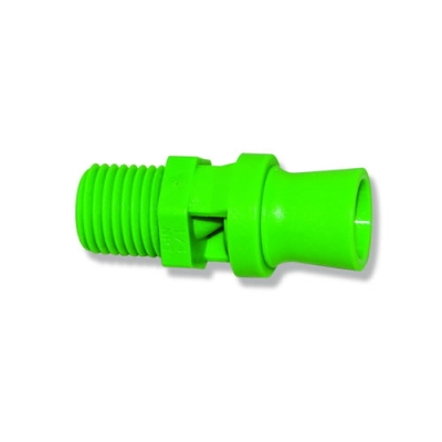 "1/4"" Green Polypropylene BEX® Mini Tank Mixing Eductor with .79 Orifice"