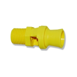 "1/4"" Yellow Polypropylene BEX® Mini Tank Mixing Eductor with 1.18 Orifice"