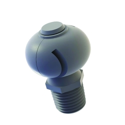 "1/4"" PVDF 180° Bex® Molded Tank Washing Nozzle"