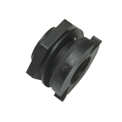 "3/4"" Heavy Duty Polypropylene Bulkhead with Santoprene™ Gasket"