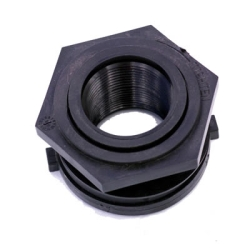 "1-1/4"" Polypropylene Bulkhead with Santoprene® Gasket"