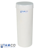 "White PVC Plating Tank - 6"" Dia. x 17"" High"