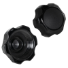 "2-1/4"" Vented Black Nylon Cap"