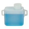 """.5 Quart Natural Multi Purpose Tank with Mounting Tabs - 5.53"""" L x 3"""" W x 3"""" Hgt. (1.625"""" Neck)"""
