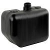 "2.5 Gallon Black Multi Purpose Tank - 12.75"" L x 7.86 W x 7.75"" Hgt. (2.25"" Neck)"