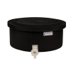 "6 Gallon Black Polyethylene Shallow Tank with Cover & Spigot - 7"" High"
