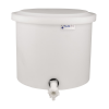 "10-12 Gallon Natural Polyethylene Shallow Tank with Cover & Spigot - 14"" High"