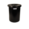 "6 Gallon Black Crock with Cover - 11"" Dia. x 16"" High"