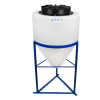 "15 Gallon Tamco® Cone Bottom Tank with 2"" FPT Bulkhead Fitting - 18"" Dia. x 22"" Hgt."