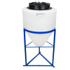 "15 Gallon Cone Bottom Tank with 1-1/2"" FNPT Boss Fitting (Full Drain) - 18"" Diameter x 22"" High"