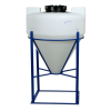 "45 Gallon Tamco® Cone Bottom Tank with Mixer Mounts & 2"" FPT Bulkhead Fitting - 30"" Dia. x 34"" Hgt."