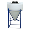 "45 Gallon Tamco® Cone Bottom Tank with Mixer Mounts & 1-1/2"" FPT Boss Fitting (Full Drain) - 30"" Dia. x 34"" Hgt."