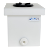 "6 Gallon Natural Polyethylene Tamco® Tank with 5"" Lid & 3/4"" FNPT Polypropylene Bulkhead - 14"" L x 10"" W x 10"" Hgt."