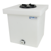 "6 Gallon Natural Polyethylene Tank with 5"" Lid & 3/4"" FNPT Polypropylene Bulkhead - 12"" L x 12"" W x 12"" H"