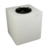 """25 Gallon Natural Square Utility Tamco® Tank with 8"""" Lid - 18"""" L x 18"""" W x 19"""" Hgt."""