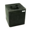 "25 Gallon Black Square Utility Tamco® Tank with 8"" Lid - 18"" L x 18"" W x 19"" Hgt."