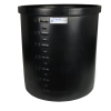 "17 Gallon Black Short Polyethylene Tank - 22"" Dia. x 12"" High"