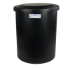 "16 Gallon Black Round Tank with Cover - 16"" Dia. x 21"" High"