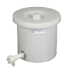 "6 Gallon Tamco® Crock with a 3/4"" Polypropylene Flow Spigot"