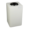 """10 Gallon Natural Square Utility Tamco® Tank with 5"""" Lid - 11-1/2"""" L x 11-1/2"""" W x 20"""" Hgt."""