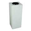 """15 Gallon Natural Square Utility Tamco® Tank with 5"""" Lid - 11-1/2"""" L x 11-1/2"""" W x 29"""" Hgt."""