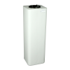 """20 Gallon Natural Square Utility Tamco® Tank with 5"""" Lid - 11-1/2"""" L x 11-1/2"""" W x 37"""" Hgt."""