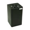 "10 Gallon Black Square Utility Tamco® Tank with 5"" Lid - 11-1/2"" L x 11-1/2"" W x 20"" Hgt."
