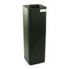 "20 Gallon Black Square Utility Tamco® Tank with 5"" Lid - 11-1/2"" L x 11-1/2"" W x 37"" Hgt."