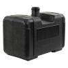 "4 Gallon Black Multi Purpose Tank - 15"" L x 8.5"" W x 9.4"" Hgt. (2.25"" Neck)"