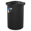"100 Gallon Black Closed Top Vertical Batch Tank 23"" x 64"""