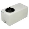 """5 Gallon Natural Molded Polyethylene Tank with Lid & 1/2"""" FNPT Fitting - 18"""" L x 9"""" W x 10"""" H"""
