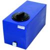 "6 Gallon Blue Molded Polyethylene Tank with Lid & 1/2"" FNPT Fitting - 19"" L x 9.5"" W x 11"" H"