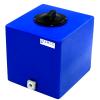 "7 Gallon Blue Molded Polyethylene Tank with Lid & 3/4"" FNPT Fitting - 13"" L x 12"" W x 14"" H"