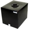 "16 Gallon Black Molded Polyethylene Tank with Lid & 3/4"" FNPT Fitting - 18.5"" L x 15"" W x 16"" H"