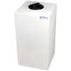"""20 Gallon Natural Molded Polyethylene Tank with Lid - 14"""" L x 12"""" W x 31"""" H"""