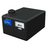 "6 Gallon Black Heavy Duty Specialty Tank w/Pump Mount, 2"" Lid, No Fitting 15""L x 12""W x 8""H"