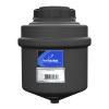 "3.5 Gallon Black Cylinder Rinse Tank w/5"" Lid & 3/4"" Spinweld Fitting - 11"" Dia. x 15"" Hgt."