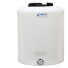 """20 Gallon Tamco® Vertical Natural PE Tank with 8"""" Lid & 3/4"""" Fitting - 19"""" Dia. x 23"""" High"""