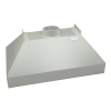 Polypropylene Tamco® Canopy Fume Exhaust Hood
