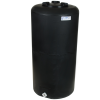 "35 Gallon Tamco® Vertical Black PE Tank with 8"" Lid & 3/4"" Fitting - 19"" Dia. x 37"" High"