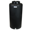 "35 Gallon Tamco® Vertical Black PE Tank with 12-1/2"" Lid & 3/4"" Fitting - 19"" Dia. x 39"" High"